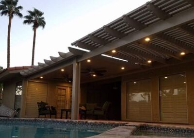 Gallery Patio Cover at pool side